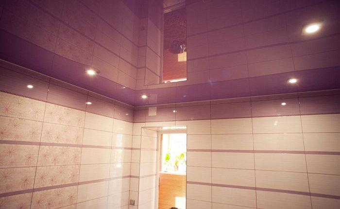 Натяжные потолки в ванной комнате фото отзывы
