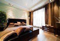 Белый натяжной потолок для спальни