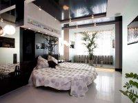 Черный многоуровневый потолок