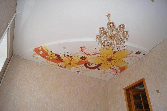 Фотопечать на многоуровневом потолке