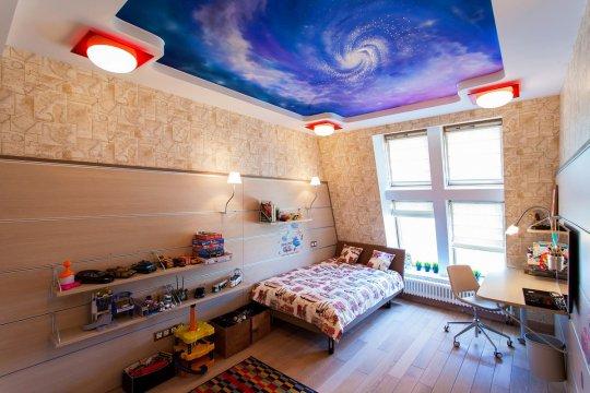 """Фотопечать """"звездное небо"""" на потолке"""