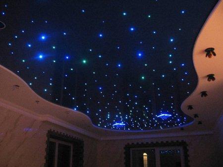 Гостиная с потолком