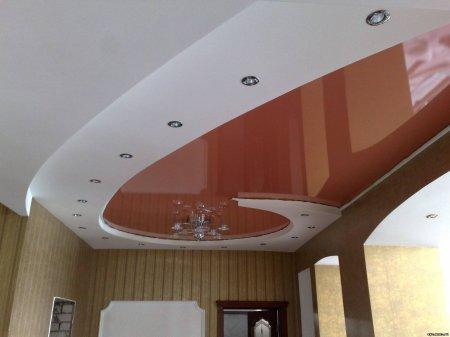 Кабинет с многоуровневым потолком