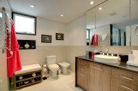 Матовый натяжной потолок для ванной комнаты