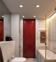 Матовый натяжной потолок для ванной