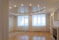 Многоуровневый белый натяжной потолок