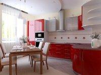 Многоуровневый белый потолок на кухне