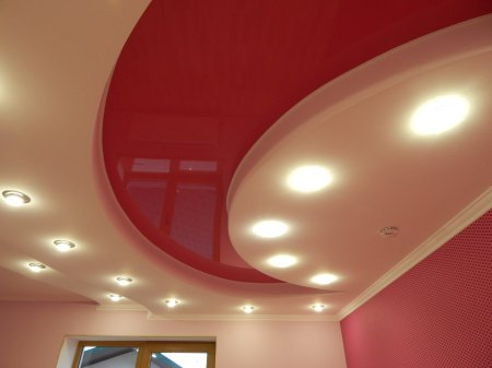 Многоуровневый натяжной потолок