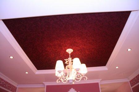 Натяжной потолок (бархат)