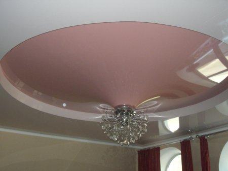 Натяжной потолок для гостиной (конус)