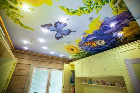 Натяжной потолок в детской с фотопечатью