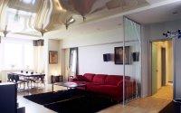 Натяжной потолок в студии