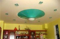 Натяжной потолок в виде конуса для гостиной