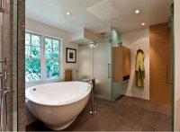 Одноуровневый натяжной потолок для ванной