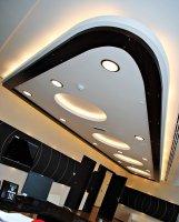 Офис с многоуровневым натяжным потолком