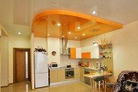 Оранжевый потолок в студии