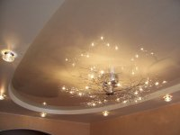 Овальный натяжной потолок для гостиной