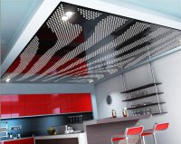 Перфорированный потолок в студии