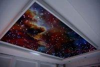 """Потолок """"Звездное небо"""" в гостиной"""