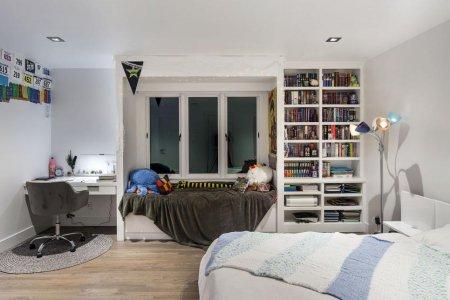 Сатиновый натяжной потолок в детской