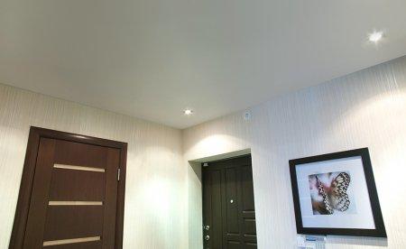 Сатиновый потолок в прихожей