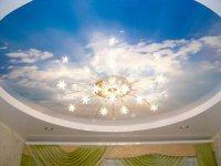 Спальня с фотопечатью неба