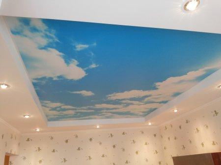 Спальня с фотопечатью (небо)