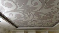 Спальня с тканевым натяжным потолком