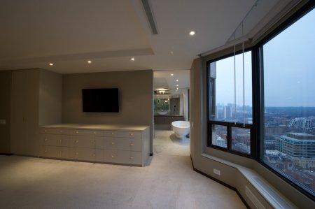 Студия с тканевым натяжным потолком